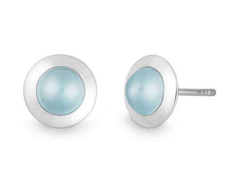 Sterling Silver Blue Topaz Earrings I.1621