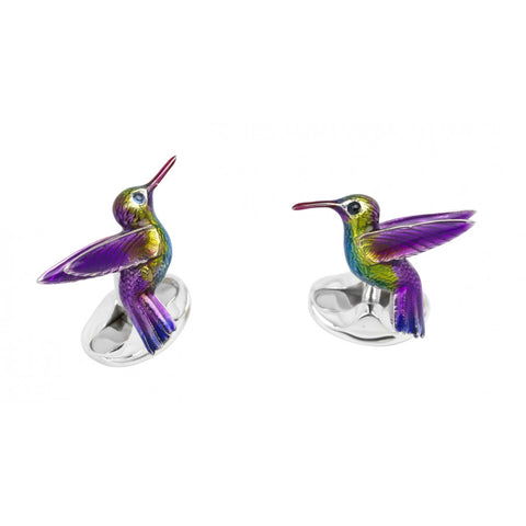 Sterling Silver Hummingbird Cufflinks