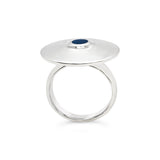 Georg Jensen Sterling Silver & Enamel Ring #162 OV.106