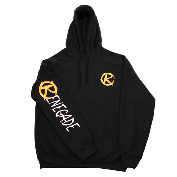 Black and Gold Hoodie - Renegade Golf