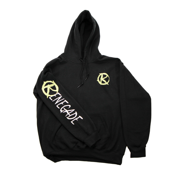 Black and Highlight Yellow Hoodie - Renegade Golf