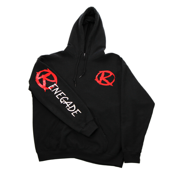 Black with Red Hoodie - Renegade Golf