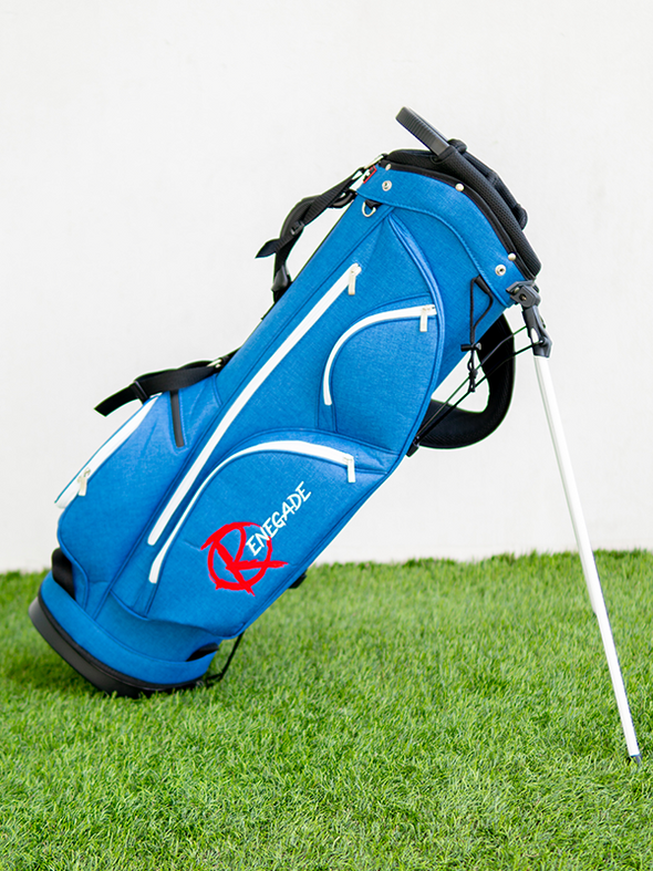 "Customized Embroidery ""Blue Flame"" Stand Bag"