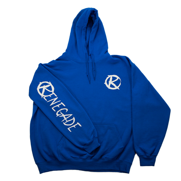 Blue and White Hoodie - Renegade Golf