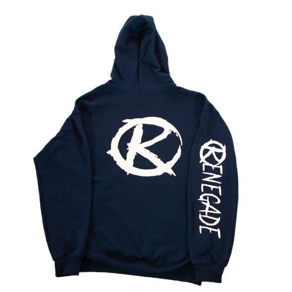 Navy Blue and White Hoodie - Renegade Golf