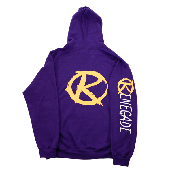 Purple and Gold Hoodie - Renegade Golf
