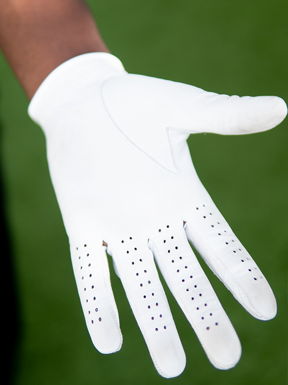 Cabretta Leather Glove - White w/ Ball Marker