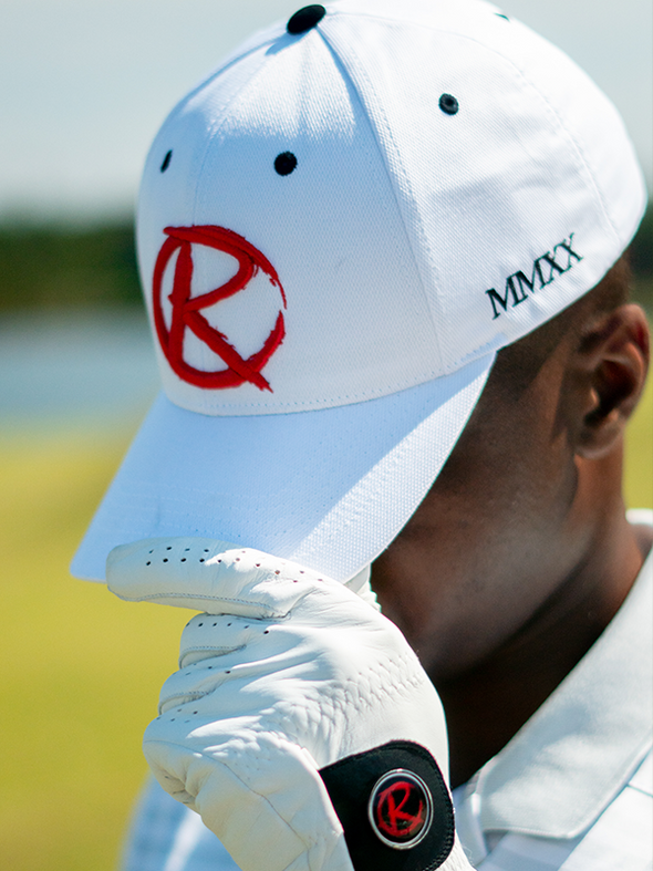 "The ""Icon"" Curved Brim Snapback - White"