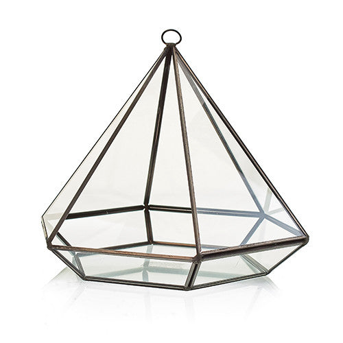 Glass Terrarium - Large Diamond-Decor-The Modern Home Shop