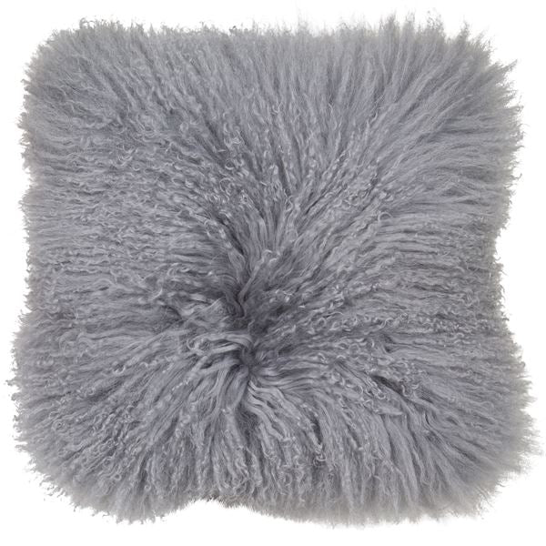Malini Mongolian Lambswool Grey Cushion