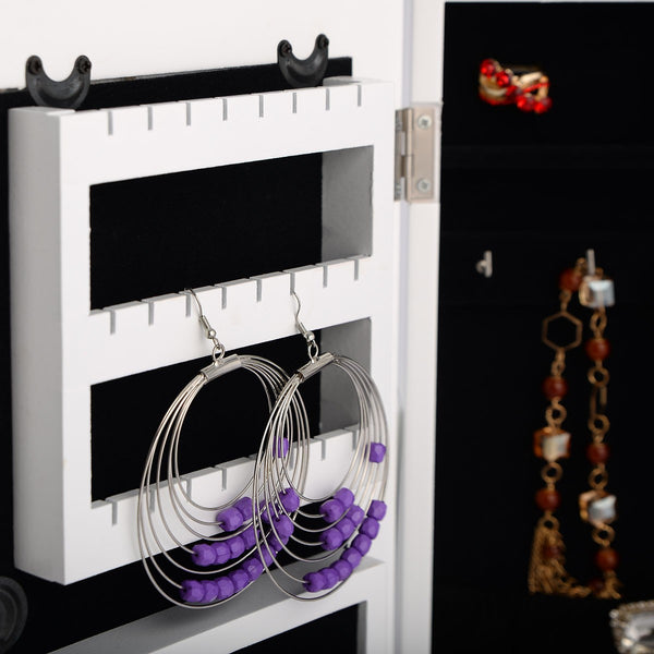 Jewellery Cabinet with White Vanity Mirror-Mirror-The Modern Home Shop