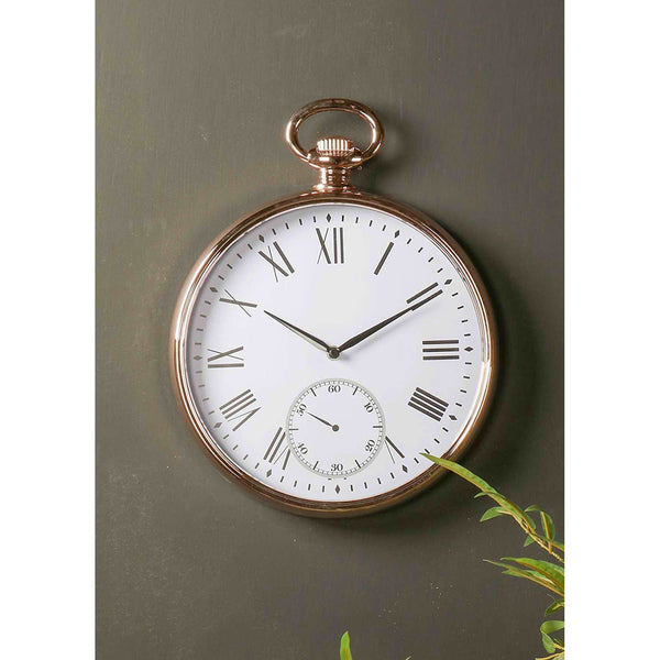 Round Gold Wall Clock 43cm-Clock-The Modern Home Shop