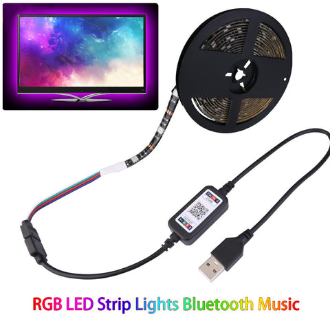 RGB LED Strip Lights Bluetooth Music Sensitive USB Powered TV Back Lights - 1m / 4m-Lighting-The Modern Home Shop