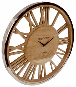 Wooden Clock With Glass Cover 48cm-Clock-The Modern Home Shop