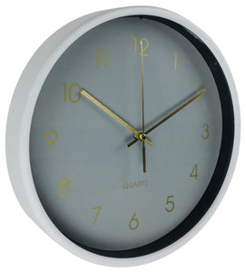 Round Wall Clock In Grey 25cm-Clock-The Modern Home Shop
