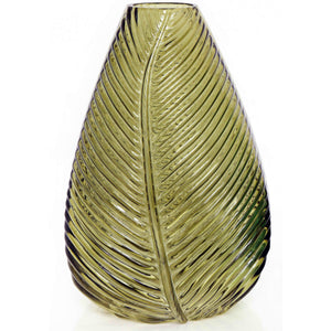 Yellow Leaf Vase 22cm-Decor-The Modern Home Shop