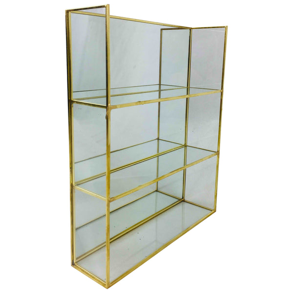 Gold Mirror Shelf Unit 28cm-Shelving-The Modern Home Shop