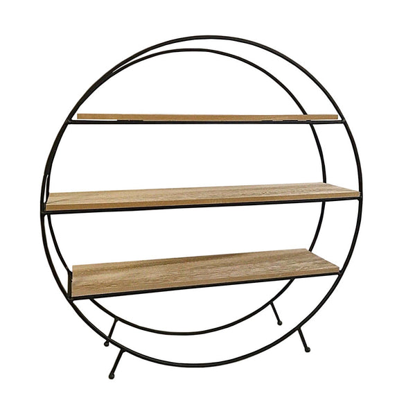 Round Standing Unit With Three Shelves for home decoration