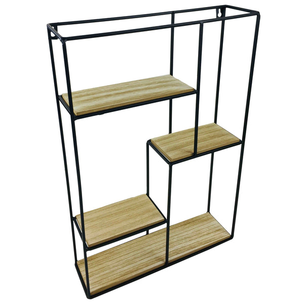 Wood & Wire Multi Shelf Display Unit-Shelving-The Modern Home Shop