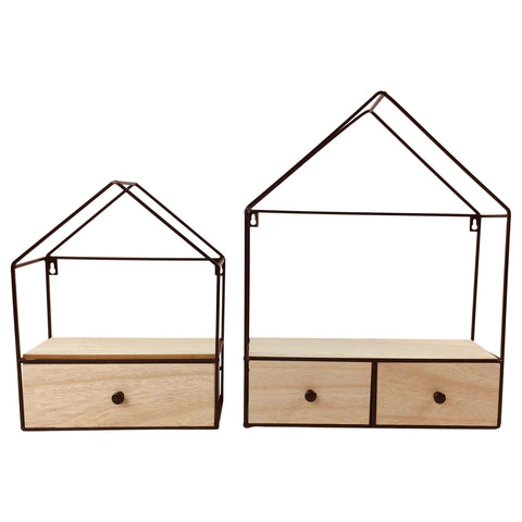 Two Unique Wire Frame Shelving Units-Shelving-The Modern Home Shop