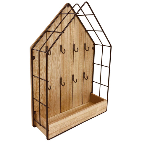 Wood & Wire House Key Storage Unit-Shelving-The Modern Home Shop