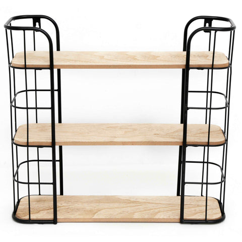 Wire Wooden Wall Shelf-Shelving-The Modern Home Shop