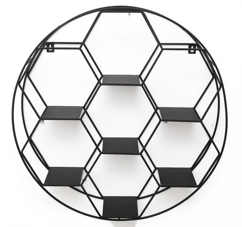 Hexagon Cut Wall Shelf 50cm-Shelving-The Modern Home Shop