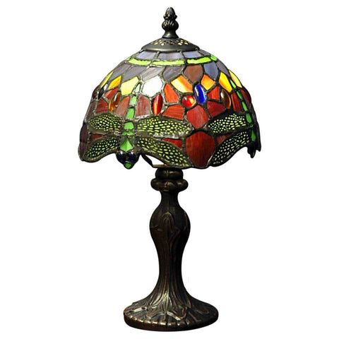 Red Dragonfly Tiffany Lamp-Lamp-The Modern Home Shop
