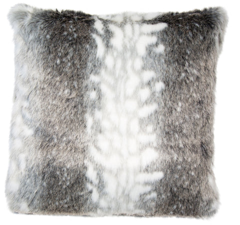 Malini Arcticfur Grey Cusion-Cushion-The Modern Home Shop