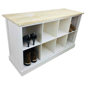 Solid Wood Bench With 8 Storage Compartments 96cm-Storage-The Modern Home Shop