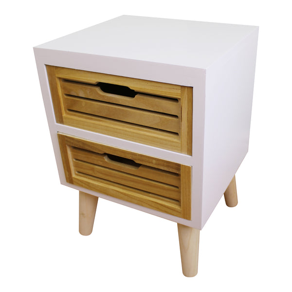 Compact 2 Drawer Unit with Removable Legs-Storage-The Modern Home Shop