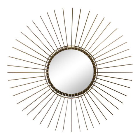 Gold Wire Sunburst Accent Mirror