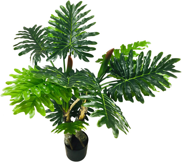 Artificial Philodendron Tree, Spot Stems 135cm-Artificial Plant-The Modern Home Shop