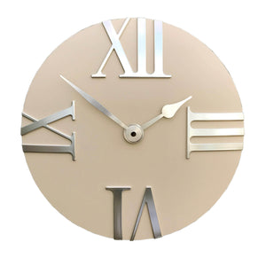 Beige Clock With Roman Numerals-Clock-The Modern Home Shop