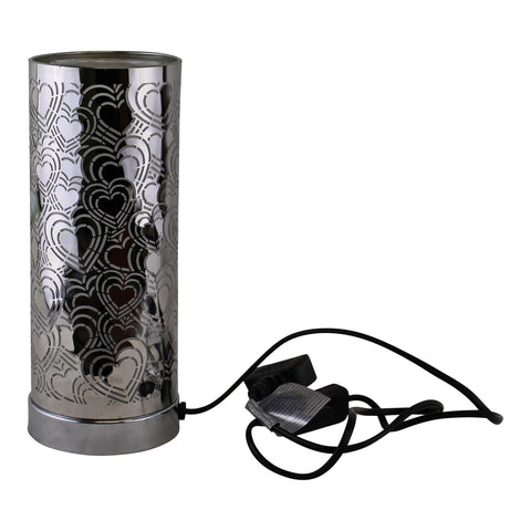 Heart Design Colour Changing LED Lamp & Aroma Diffuser in Silver