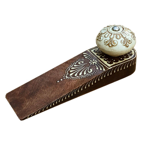 Brown Doorstop With Wooden Knob-Decor-The Modern Home Shop