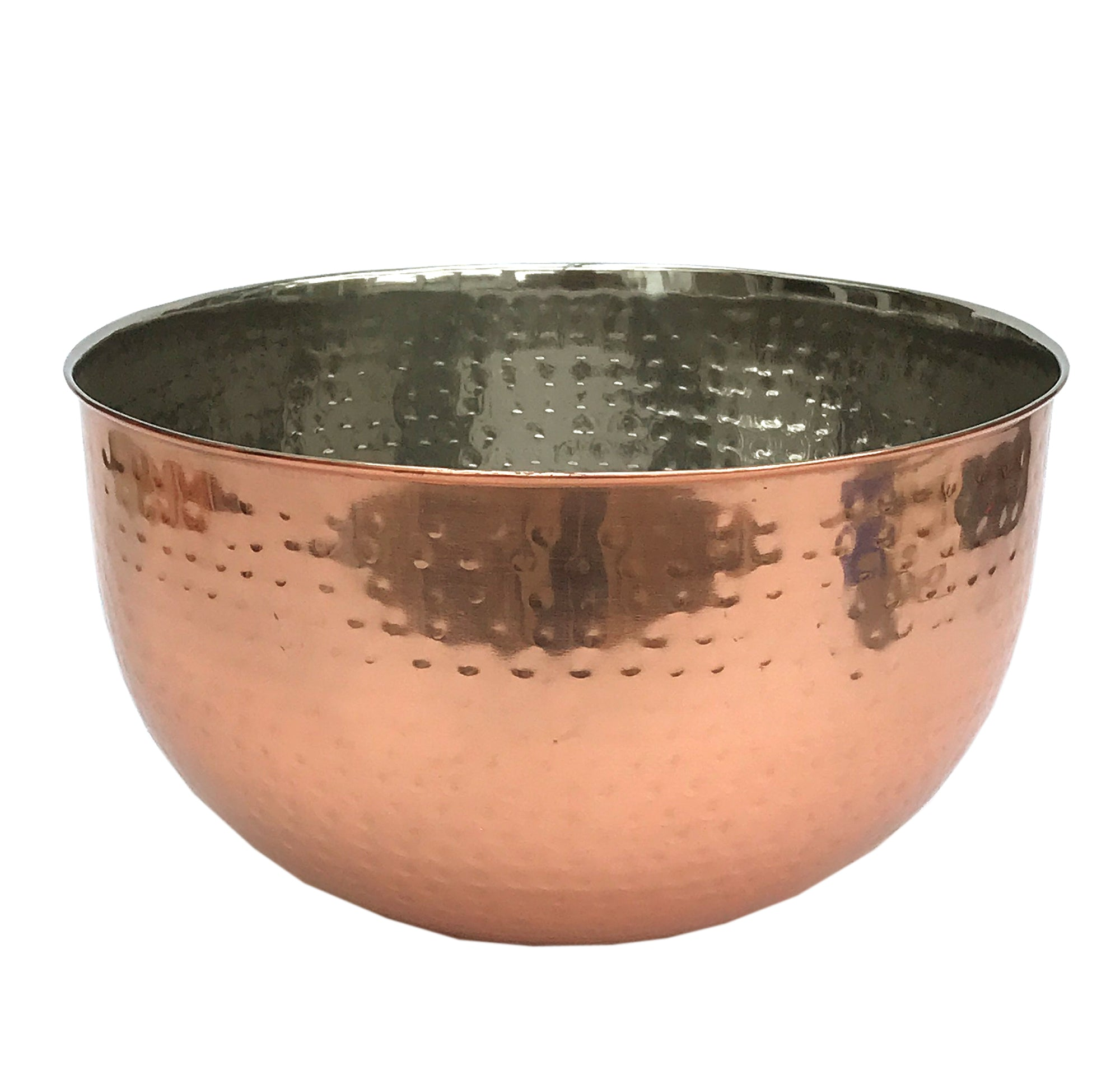 Large Hammered Copper Coloured Bowl-Decor-The Modern Home Shop