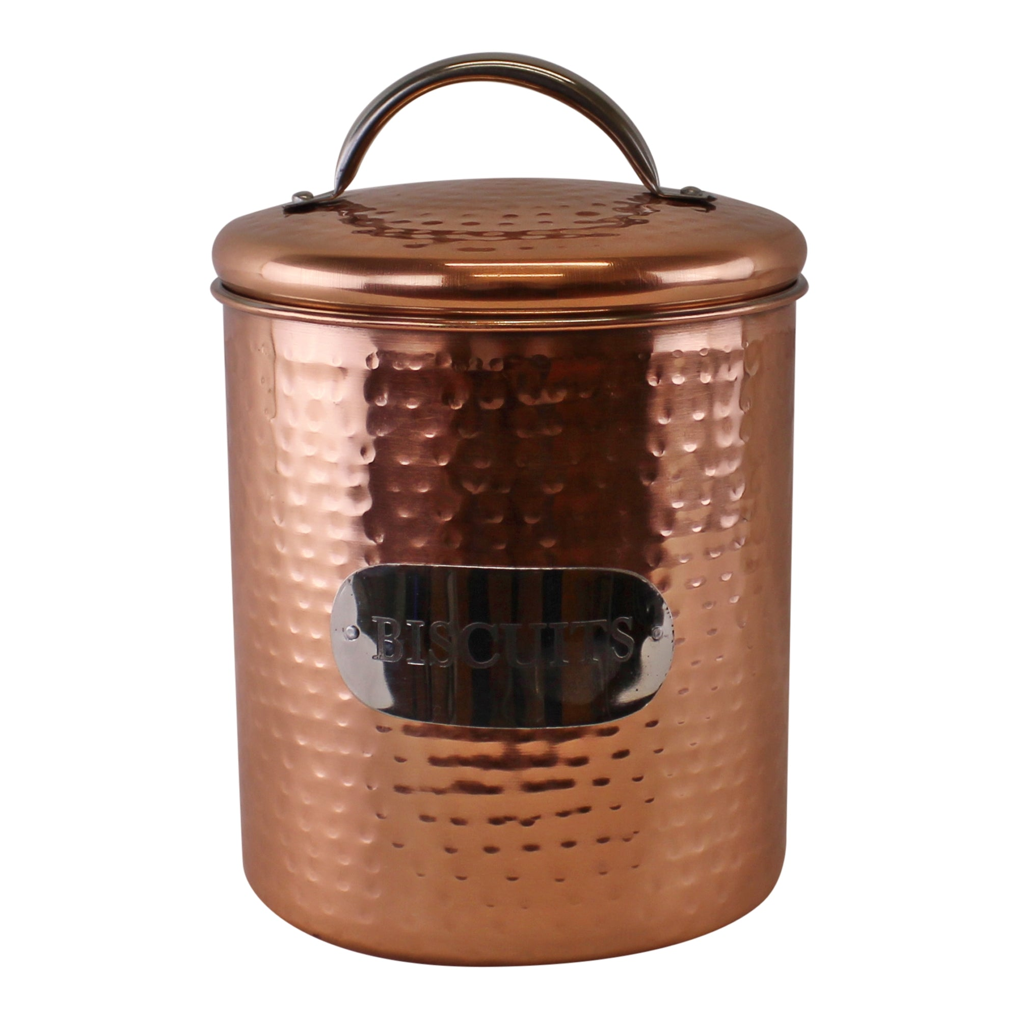 Hammered Copper Biscuit Tin