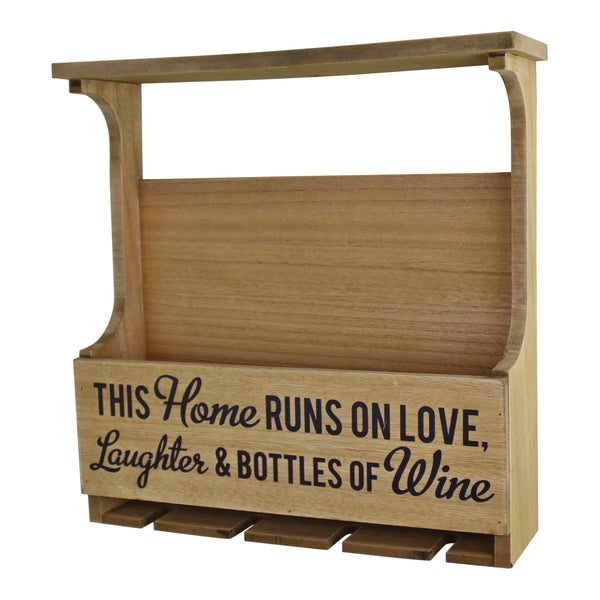 Wall Hanging Wine Bottle & Glass Holder-Wine Rack-The Modern Home Shop