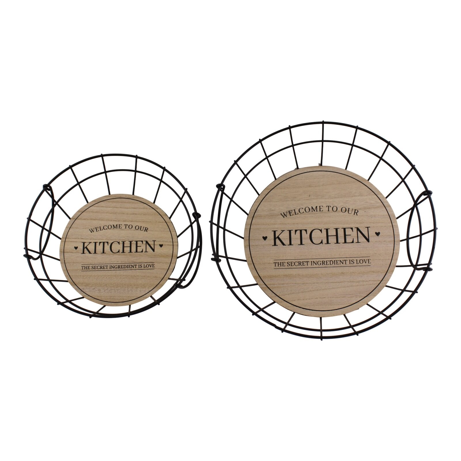 Set Of 2 Wire Kitchen Baskets