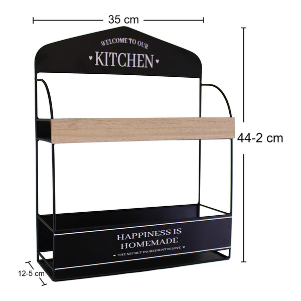 Decorative Wall Hanging Kitchen Shelving Unit-Shelving-The Modern Home Shop