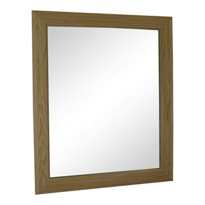 Light Oak Effect Mirror 59cm-Mirror-The Modern Home Shop