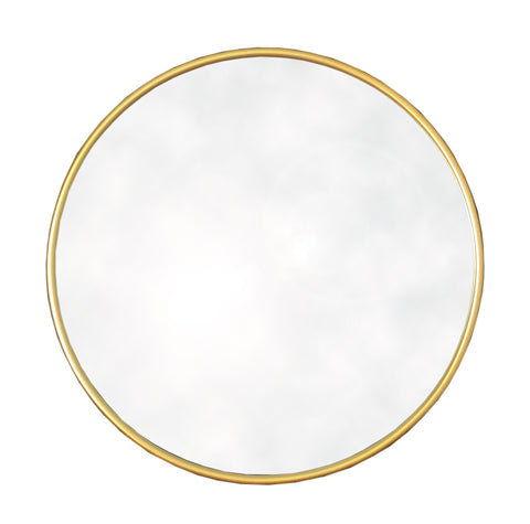 Round Gold Mirror 50cm-Mirror-The Modern Home Shop