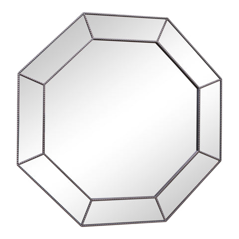 Large Silver Hexagonal Mirror 61cm-Mirror-The Modern Home Shop