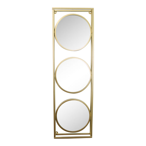 Golden Metal Framed Triple Mirror-Mirror-The Modern Home Shop
