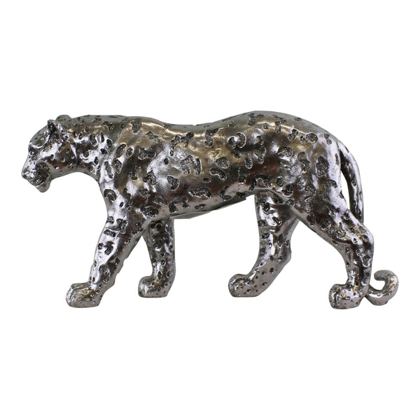 Silver Leopard Ornament - Large-Decor-The Modern Home Shop