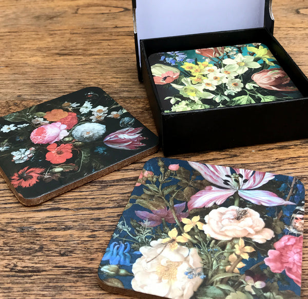 Lovely Table Top Drink Coasters With Storage Gift Box