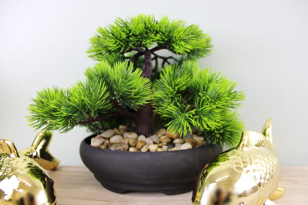 Artificial Fit Bonsai Tree with Golden ornaments