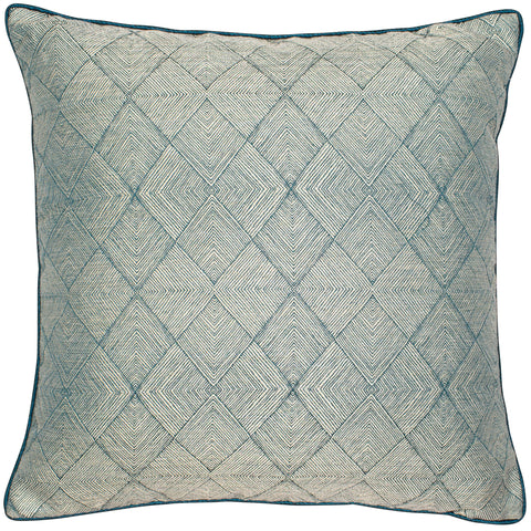 Malini Benzir Teal Cushion-Cushion-The Modern Home Shop