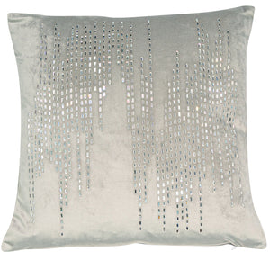 Malini Bijou Silver Cushion-Cushion-The Modern Home Shop
